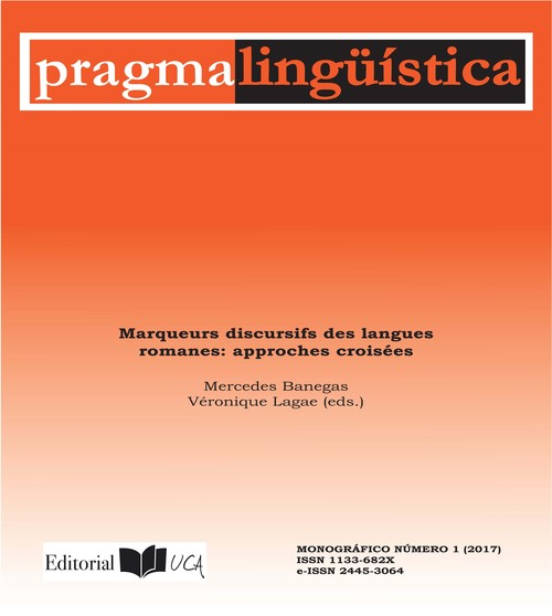 Pragmalingüística. Marqueurs discursifs des langues romanes: approches croissées