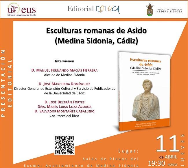 """Se Presenta en Medina Sidonia """"Esculturas Romanas de Asido"""", última coedición de las Universidades de Sevilla y Cádiz"""