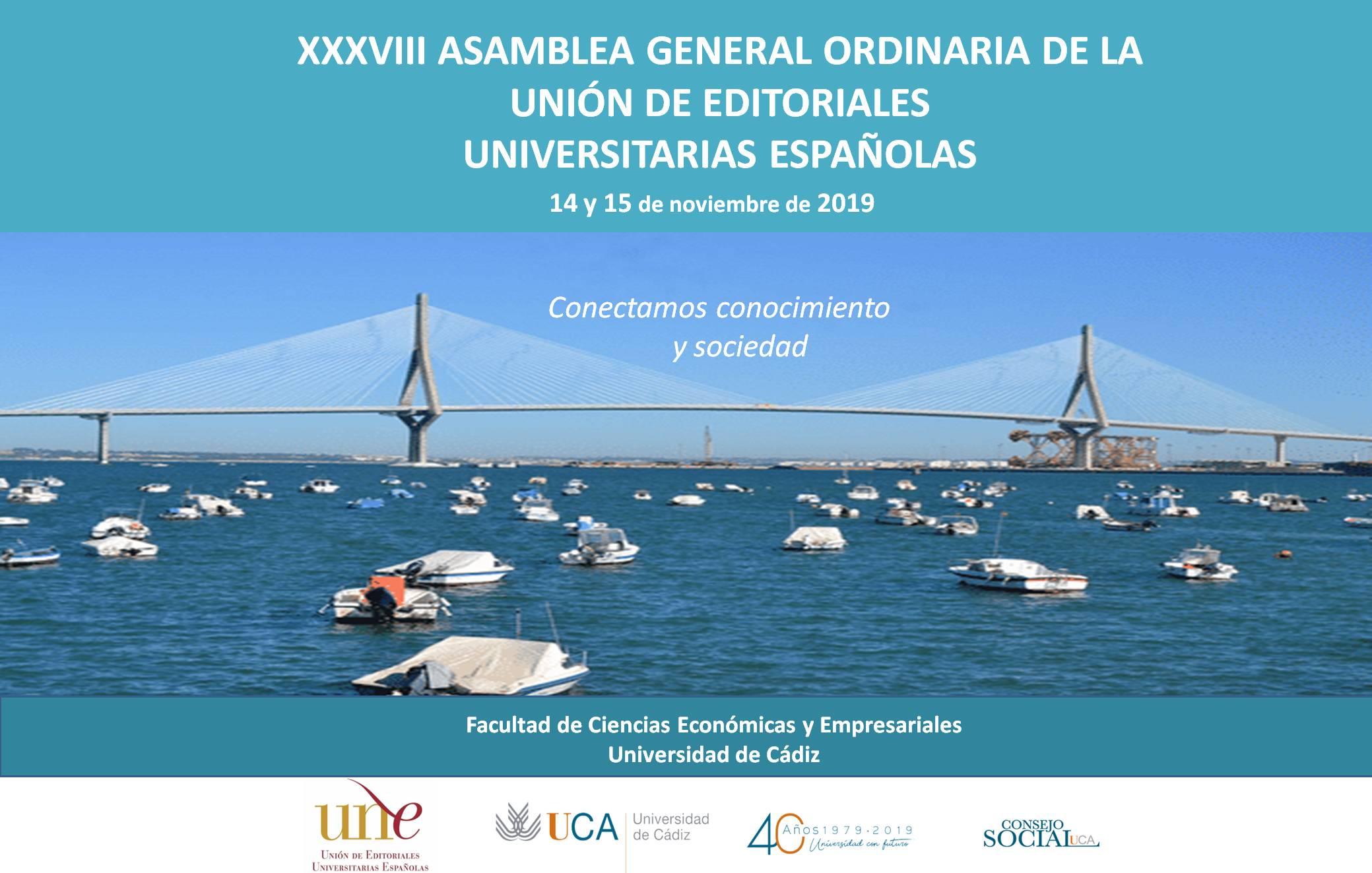 XXXVIII ASAMBLEA GENERAL ORDINARIA DE LA UNIÓN DE EDITORIALES UNIVERSITARIAS ESPAÑOLAS