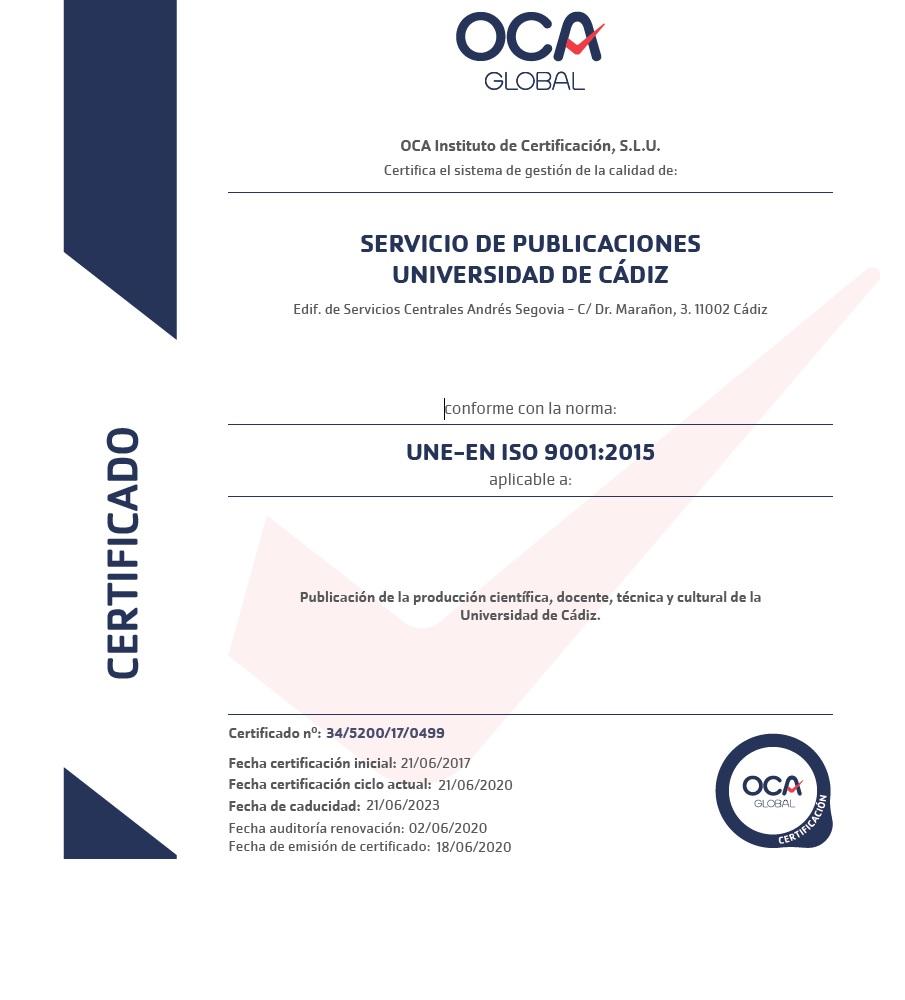 IMG Certificación ISO 9001:2015